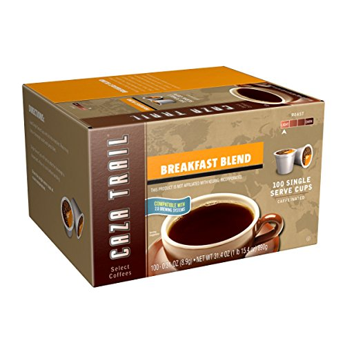Caza Trail Coffee, Breakfast Blend, 100 Single Serve Cups (Coffee K Cups 100 compare prices)