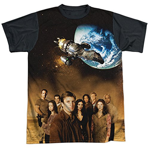 Firefly Cast Mens Sublimation Shirt White Xl (Serenity Movie Merchandise compare prices)