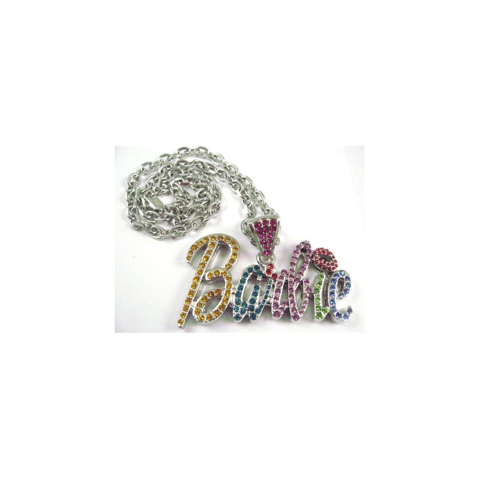 NEW NICKI MINAJ BARBIE Pendant w/ 20 Chain Silver Small, Multi
