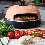 Ultratec Pizzarette Classic XL, Pizzaofen mit Metall-Backplatte - für Pizza bis 22,5 cm Durchmesser -