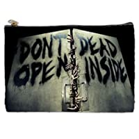Don't Open Dead Inside Walking Dead Cosmetic Bag (L) by Quinn Cafe