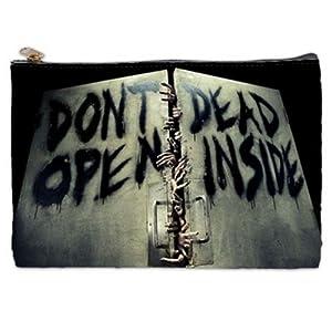 Don't Open Dead Inside Walking Dead Cosmetic Bag (L) by Quinn Cafe