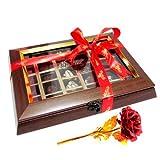 Indulgent Chocolates With 24k Red Gold Rose - Chocholik Belgium Chocolates