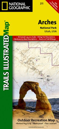Arches National Park, Utah # 211 (Trails Illustrated)