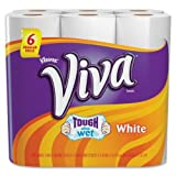 Kleenex Viva Paper Towels - 1 Ply - 44Sheets/Roll - 6 / Pack - White
