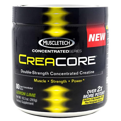 Muscletech Creacore 80 Serving Concentrate Creatine Powder, Lemon Lime, 293 Grams