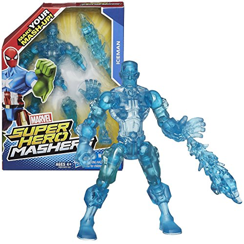 Hasbro Year 2014 Marvel Super Hero Mashers Series 6 Inch Tall Action Figure - ICEMAN with Detachable Hands and Legs Plus Ice Blast - 1