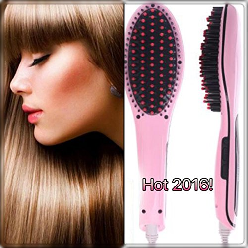 BeautiO Electric Digital Heating Hair Straightener Brush