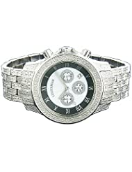 Luxurman Diamond Watches Mens Diamond Watch 1.25ct