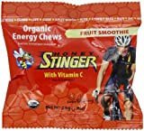 Honey Stinger Organic Energy Chews, Fruit Smoothie, 1.8-Ounce Bags (Pack of 12)