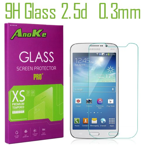 Anoke® Samsung Galaxy Mega 5.8 Tempered Glass Front Lcd Screen Protectors 9H Hardness, 2.5D Rounded Edges, 0.3Mm Thickness For (Samsung I9150 I9152 I9158 Galaxy Mega 5.8)