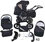 Stroller - Pram Complete with Car Seat and Carrycot Bomo 3in1 set (V40)