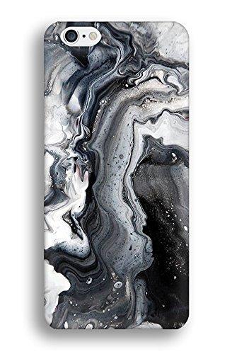 iPhone 6S Plus Case, CaseCarnival Black Metallic Marble Print iPhone 6 Plus Case