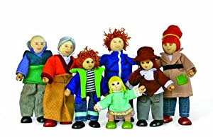Hape Doll Family Of 7 Made Of Bamboo