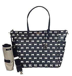 Kate Spade York Bridgewater Drive Adaira Baby Bag, Black / Cream Bows from Kate Spade New York