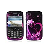 SODIAL(TM) Purple Love Design Crystal Hard Skin Case Cover for Blackberry Curve 8520 8530 3G 9300 9330 Phone