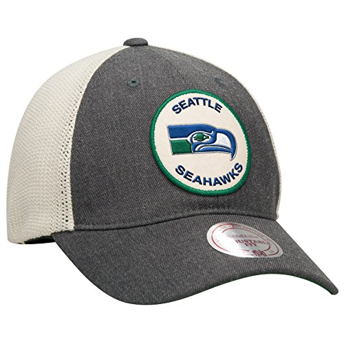 Seattle-Seahawks-Mitchell-Ness-NFL-Patch-Mesh-Back-Slouch-Adjustable-Hat
