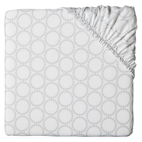 Circo Grey Medallion Fitted Crib Sheet