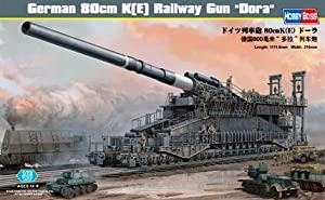 Hobby Boss German 80cm K(E) Railway Gun 'Dora' Vehicle Model Building Kit by Hobby Boss