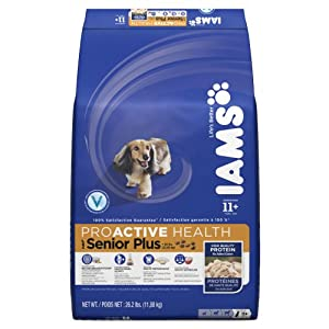 Iams Proactive Health Senior Plus Premium Dog Nutrition 26.2 Lbs