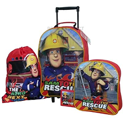 Trade Mark Collections Fireman Sam Travel Set includes Wheeled Bag/ Backpack/ Trainer Bag/ Wallet from Trade Mark Collections