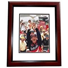Dale Jarrett Autographed Hand Signed Nascar 8x10 Photo MAHOGANY CUSTOM FRAME by Real Deal Memorabilia
