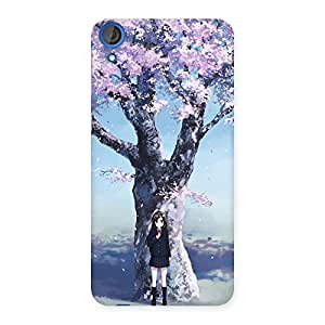 Unicovers Cherry Blossom Girl Back Case Cover for HTC Desire 820