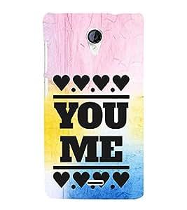 EPICCASE you me Mobile Back Case Cover For Micromax Unite 2 A106 (Designer Case)