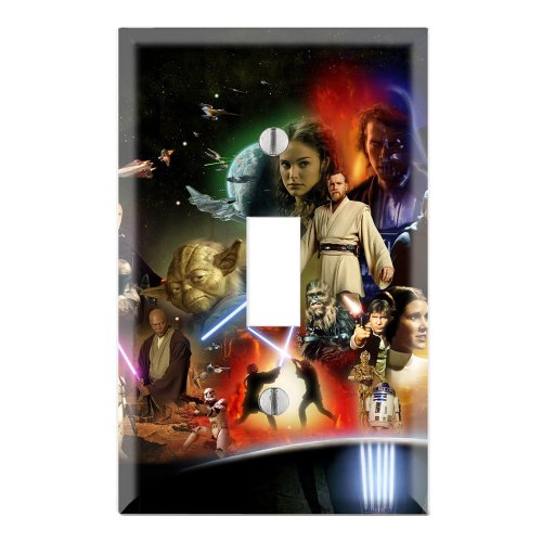 Star Wars Decorative Single Toggle Light Switch Wall Plate Cover front-41002