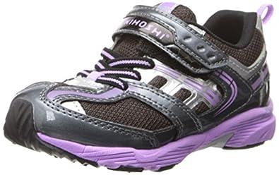 Tsukihoshi CHILD36 Sprint Sneaker (Toddler/Little Kid),Graphite/Lavender,8 M US Toddler
