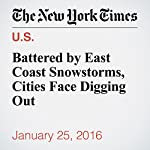 Battered by East Coast Snowstorms, Cities Face Digging Out | Ashley Southall,Sarah Maslin Nir