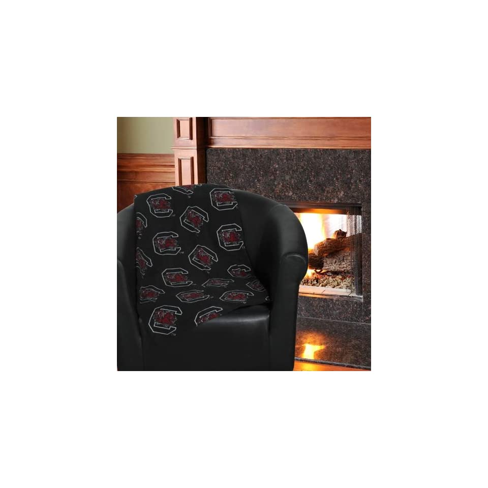 NCAA Grandma Pants South Carolina Gamecocks 60 x 86 Black Oversized Fleece Blanket