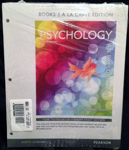 Psychology: An Exploration, Books a la Carte Plus NEW MyPsychLab...