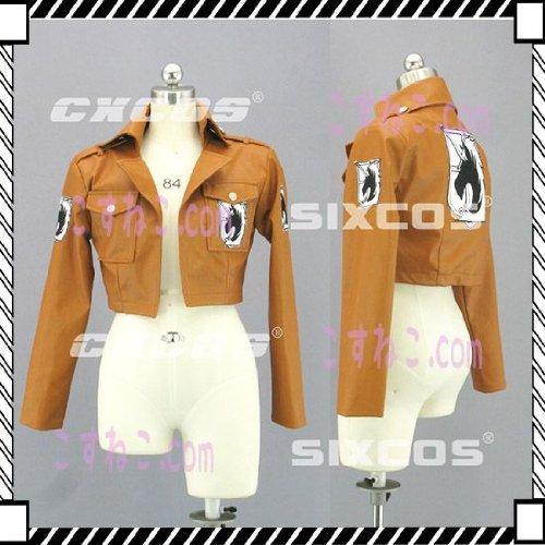 大攻击上巨人的夹克外套如果皮肤特别陆战队的宪兵风角色扮演服装男子 S 4 l 尺寸/订单尺寸可供选择