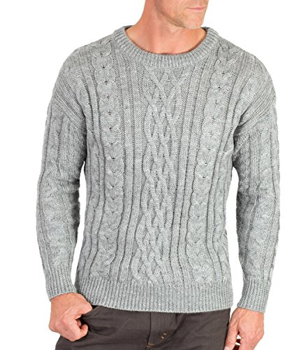 Wool Overs Men's British Wool Aran Jumper