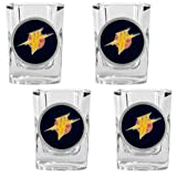 Golden State Warriors NBA 4pc Square Shot Glass Set