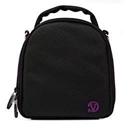 VanGoddy Laurel DSLR Camera Carrying Bag with Removable Shoulder Strap for Pentax K-5 II Digital SLR Camera (Plum Purple)