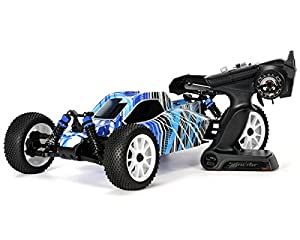 Kyosho DBX Nitro Off-Road RC Buggy T1 (1/10 Scale), Blue, Black, Grey, White