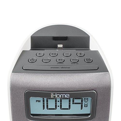 ihome ipl22 stereo fm clock radio with lightning dock charge play for iphone 6 6s 6plus 6s plus. Black Bedroom Furniture Sets. Home Design Ideas