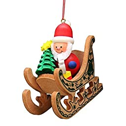 10-0575 - Christian Ulbricht Ornament - Santa Sled - 2.75\