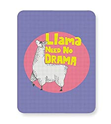 PosterGuy Mouse Pad - Llama need no drama | Designed by: high & above