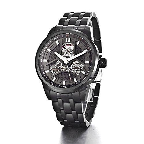 Fiyta Men'S Ga8460.Bbb Stainless Steel Luminous Black Watch