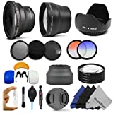 Essential Kit for CANON REBEL (T4i T3i T3 T2i T2 T1i XTi XT), CANON EOS (1100D 650D 600D 550D 500D 450D 400D 350D) Includes