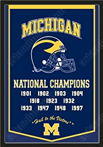Dynasty Banner Of Michigan Wolverines-Framed Awesome & Beautiful-Must For A... by Art and More, Davenport, IA