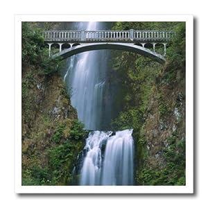 ht_94100_3 Danita Delimont - Waterfalls - Multnomah Falls, Columbia River Gorge, Oregon - US38 RKL0010 - Raymond Klass - Iron on Heat Transfers - 10x10 Iron on Heat Transfer for White Material