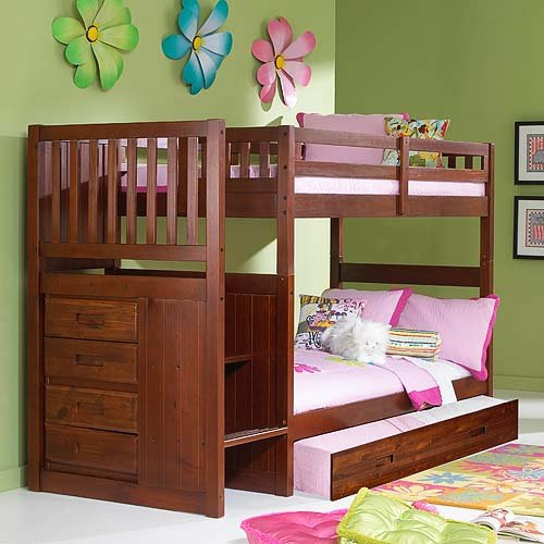 Merlot Twin Twin Staircase Bunk with Trundle Reviews