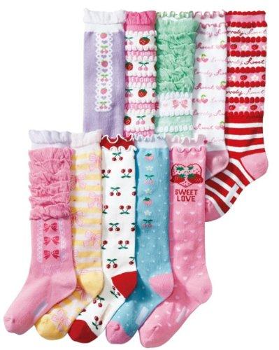 Deer Mum 10 Pairs Girl'S Princess Style Knee High Socks (Pack 10) front-576428