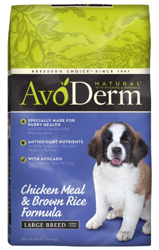 Avoderm Natural Chicken Meal And Brown Rice Formula Large Breed Puppy Food, 30-Pound front-274570
