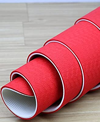 "ChakFit Premium Double Layer TPE Yoga Exercise Mat 1/4"" Thick (6mm) 72"" Long, Comfortable Lightweight Eco Friendly - Bonus Carry Strap Included"
