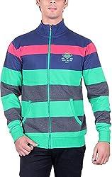 RGT Men's Fleece Regular Fit Sweatshirts (RGT6017GREEN-XXL)